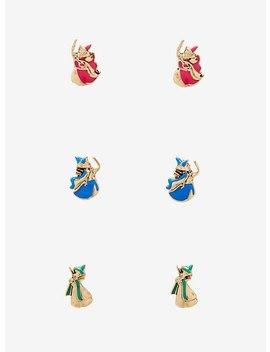 Disney Sleeping Beauty Fairies Stud Earring Set by Hot Topic