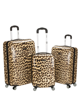 Rockland Luggage 3 Piece Hardside Polycarbonate/Abs Upright Luggage Set by Rockland