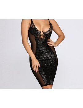 Mesh &Amp; Sequin Statement Mini Dress by Windsor