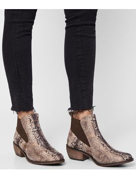 Jaylee Snake Print Ankle Boot by Mia