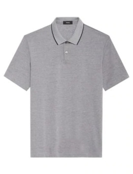 Current Contrast Trim Polo by Theory