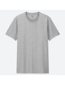 Men 100% Supima Cotton Crew Neck Short Sleeved T Shirt (155) by Uniqlo
