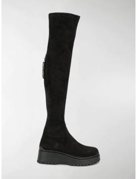 Tall Logo Zip Boots by Miu Miu