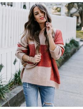 Peach Preserve Colorblock Knit Sweater by Vici