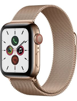 Apple Watch Series 5 (Gps + Cellular) 40mm Gold Stainless Steel Case With Gold Milanese Loop   Gold Stainless Steel by Apple