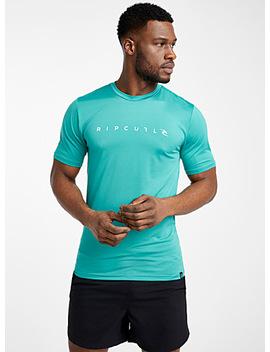 Typeset Logo Rashguard T Shirt by Rip Curl