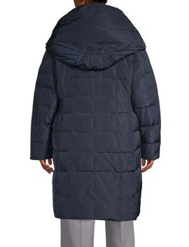 Plus Quilted Cinch Waist Gilet Down Coat by Cole Haan