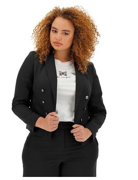 Mix And Match Black Cropped Blazer by Simply Be
