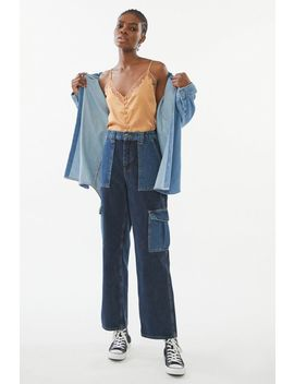 Bdg High Waisted Skate Jean – Patch Denim by Bdg