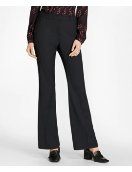 Wool Wide Leg Pants by Brooks Brothers