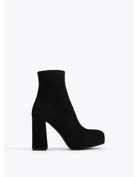 Suede Platform Ankle Boots by Uterqüe