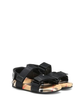 Canvas Sandals by Burberry Kids