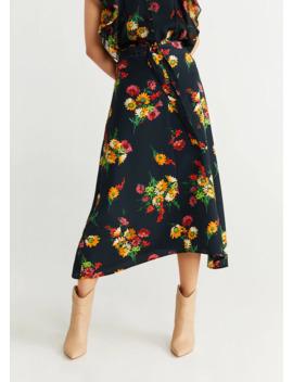 Flowers Midi Skirt by Mango