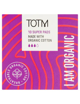 Totm Super Pads With Wings 10 by Superdrug