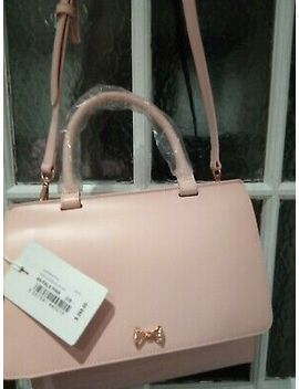 Ted Baker Pale Pi Ink Leather Otillia Tote Messenger/Cros<Wbr>Sbody Micro Bow Bag by Ebay Seller