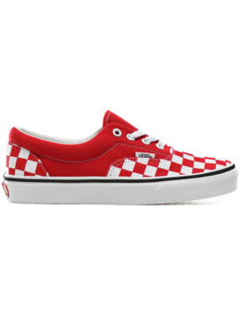Vans Era Checkerboard Racing Red by Stock X