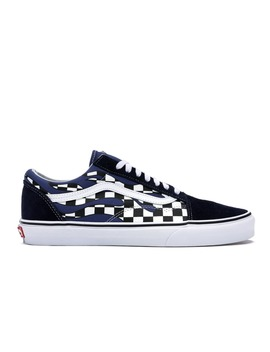 Vans Old Skool Checkerboard Flame Blue by Stock X