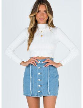 Mariya Denim Mini Skirt by Princess Polly