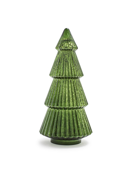 Decorative Mercury Glass Green Tree by Sur La Table