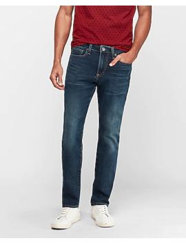 Slim Dark Wash Hyper Stretch Comfort Jeans by Express