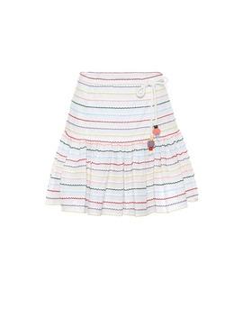 Zinnia Striped Cotton Miniskirt by Zimmermann