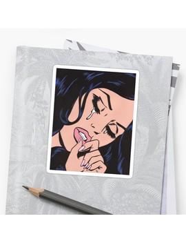 Black Hair Crying Comic Girl Sticker by Turddemon