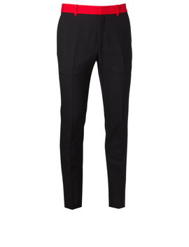 Wool Blend Pants With Contrast Waist by Holt Renfrew