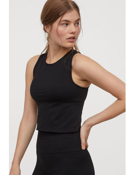 Cropped Seamless Sports Top by H&M