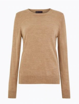 Cashmilon™ Round Neck Jumper by Marks & Spencer