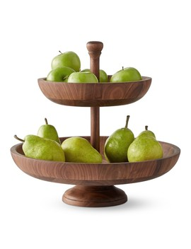 Walnut Tiered Fruit Bowl by Williams   Sonoma