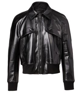 Leather Blouson Jacket by Holt Renfrew