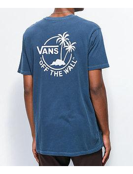 Vans Vintage Mini Dual Palm Blue T Shirt by Vans