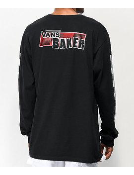 Vans X Baker Speed Check Black Long Sleeve T Shirt by Vans
