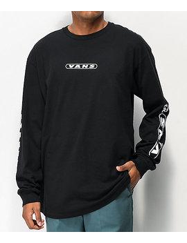 Vans Kaleidoscope Otw Black Long Sleeve T Shirt by Vans