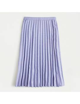 Petite Pleated Wool Flannel A Line Skirt by J.Crew