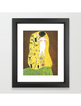 The Kiss Framed Art Print by Society6