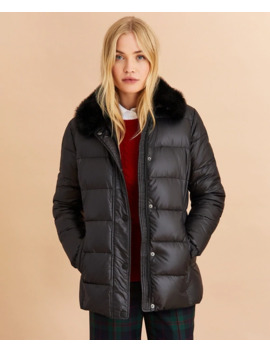 Faux Fur Trim Down Parka by Brooks Brothers
