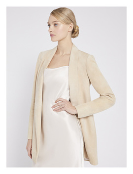 Xavier Suede Drape Jacket by Alice And Olivia