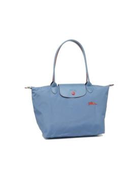 Ladies Le Pliage Shoulder Tote Bag In Blue Mist by Longchamp