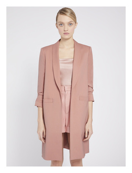 Muriel Scrunched Slit Sleeve Coat by Alice And Olivia