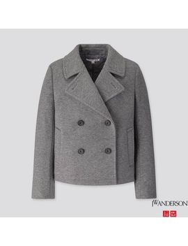Women Jwa Short Pea Coat by Uniqlo