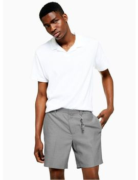 Black And White Textured Smart Shorts by Topman