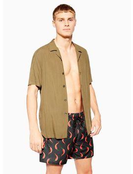 Chilli Print Swim Shorts by Topman