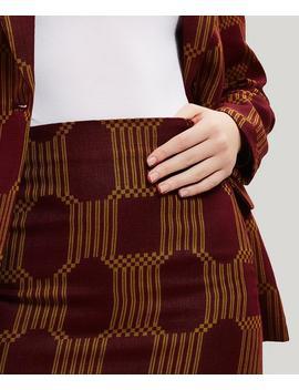 Alora Geo Print Linen Blazer Jacket by Paloma Wool
