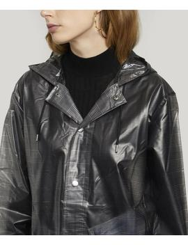 Check Hooded Coat by Rains