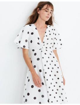 Whit® Twist Midi Dress In Polka Dot by Madewell