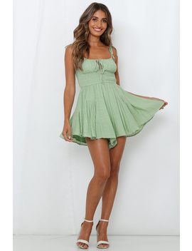 Sorrento Nights Playsuit Green by Hello Molly