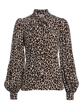 Silk Pussybow Blouse by Michael Kors Collection