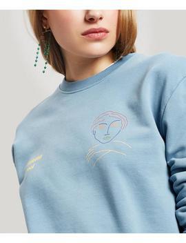 Hotel Paloma Logo And Face Print Sweater by Paloma Wool