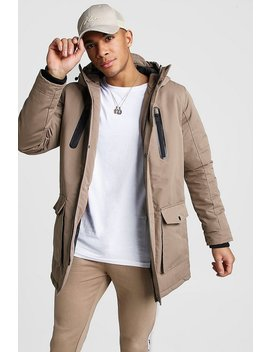 Padded Hooded Parka by Boohoo